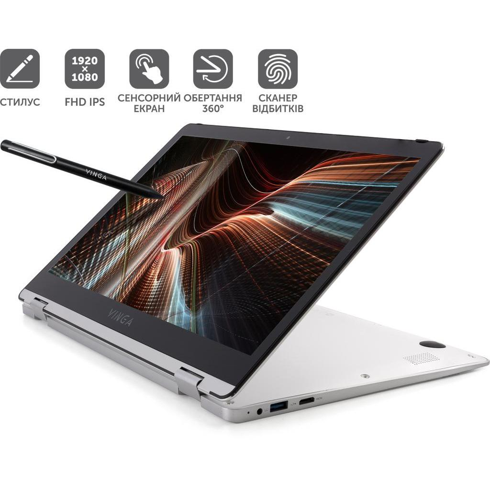 Ноутбук Vinga Twizzle Pen J133 (J133-C33464PS) изображение 2