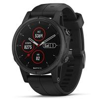 Смарт-часы Garmin Fenix 5S Plus Sapphire Black with Black Silicone (010-01987-78)