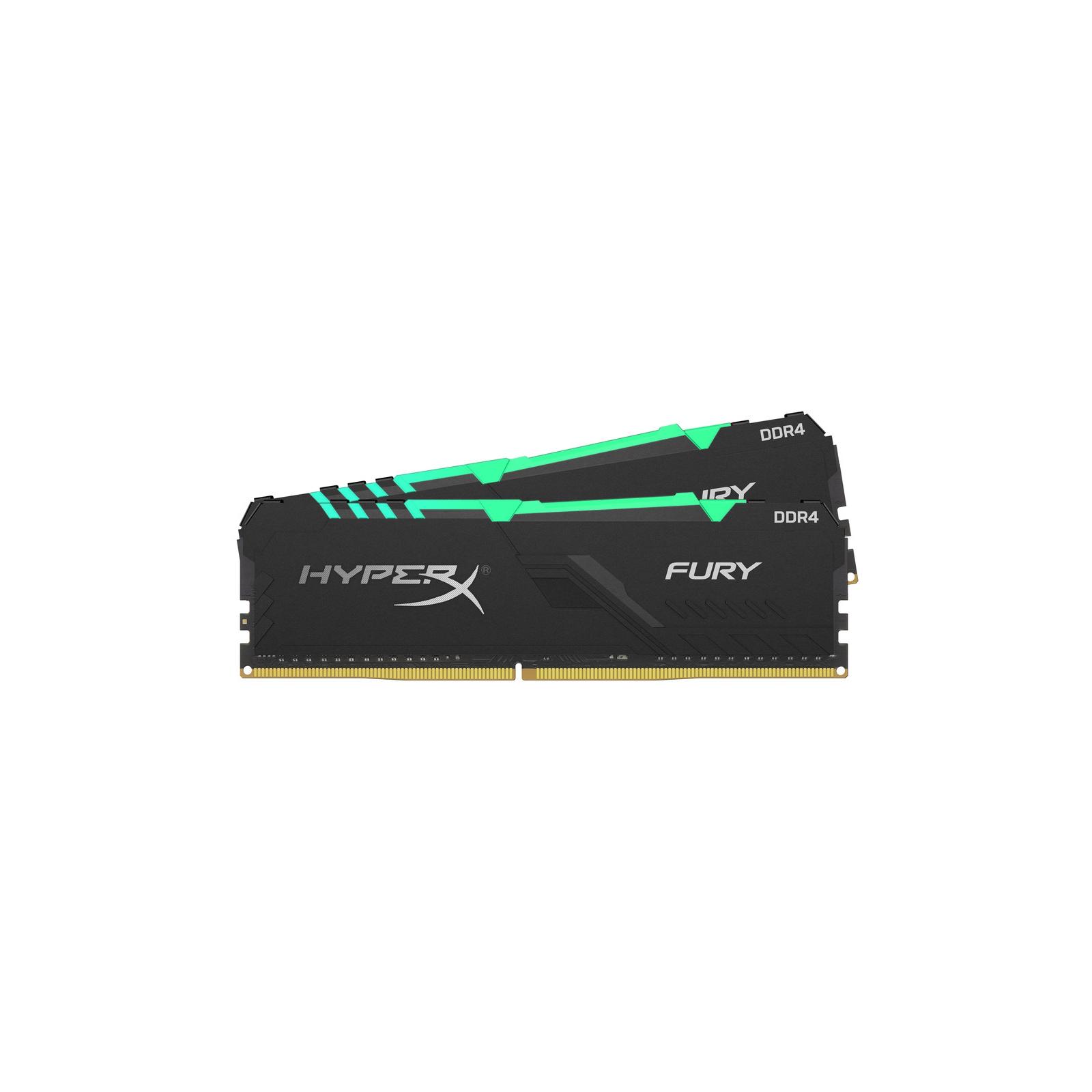 Модуль памяти для компьютера DDR4 16GB (2x8GB) 2400 MHz HyperX Fury RGB HyperX (Kingston Fury) (HX424C15FB3AK2/16) изображение 2