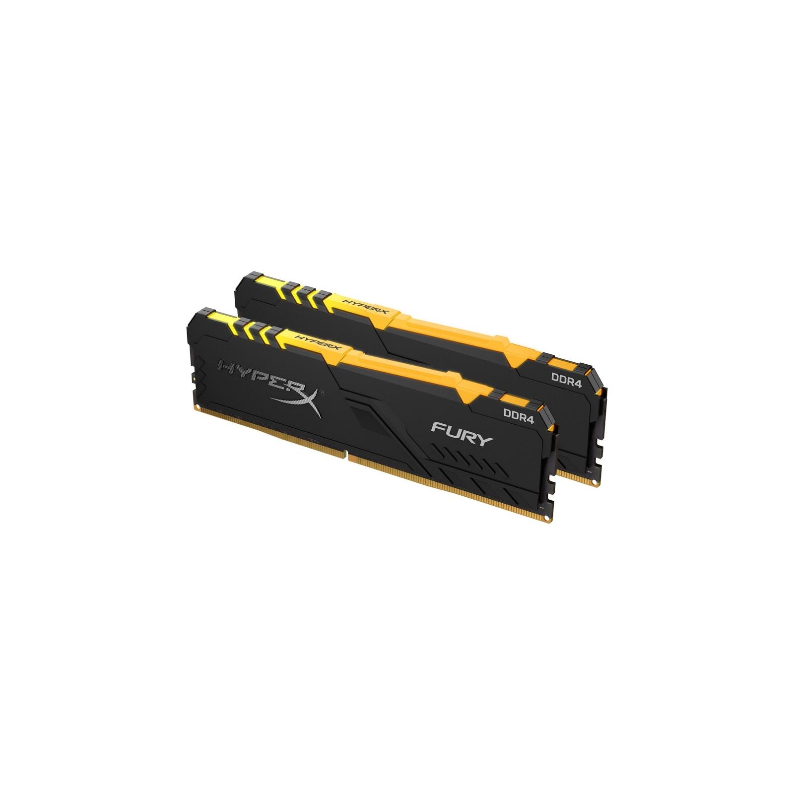 Модуль памяти для компьютера DDR4 16GB (2x8GB) 2400 MHz HyperX Fury RGB HyperX (Kingston Fury) (HX424C15FB3AK2/16) изображение 3