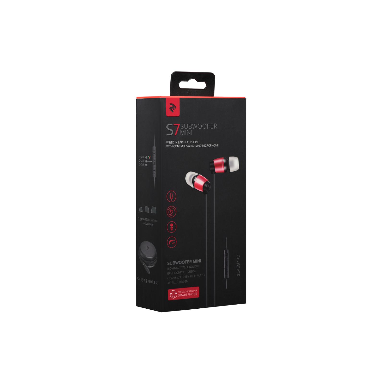 Навушники 2E S7 Subwoofer Червоний (2E-IES7RD) зображення 6