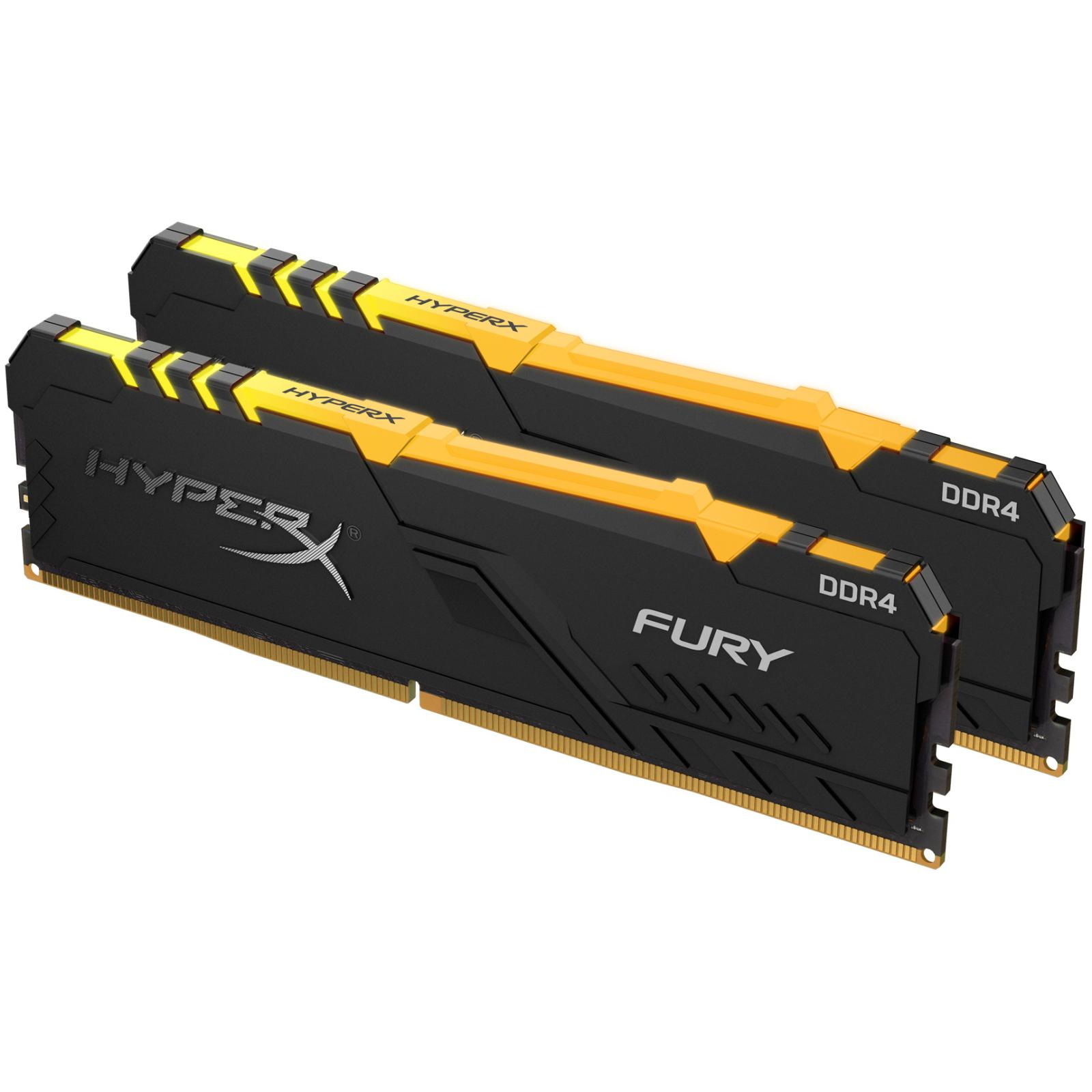 Модуль памяти для компьютера DDR4 32GB (2x16GB) 3733 MHz HyperX Fury RGB Kingston (HX437C19FB3AK2/32) изображение 3