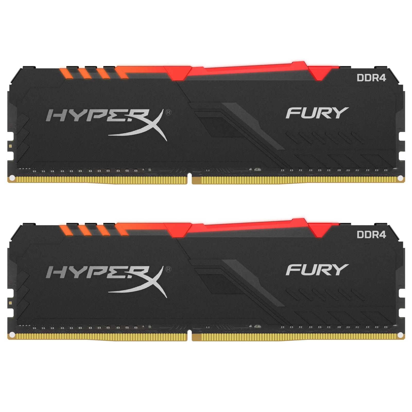 Модуль памяти для компьютера DDR4 32GB (2x16GB) 3733 MHz HyperX Fury RGB Kingston (HX437C19FB3AK2/32)