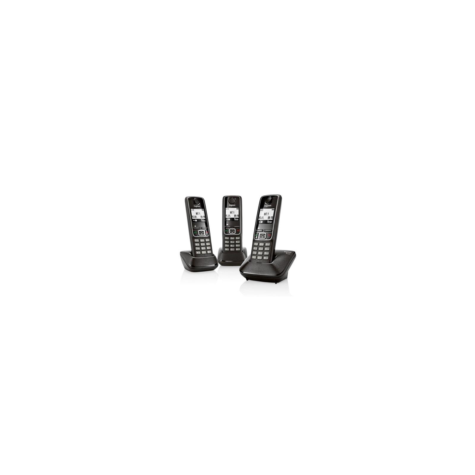Телефон DECT Gigaset A420 TRIO Black (L36852H2402S311)