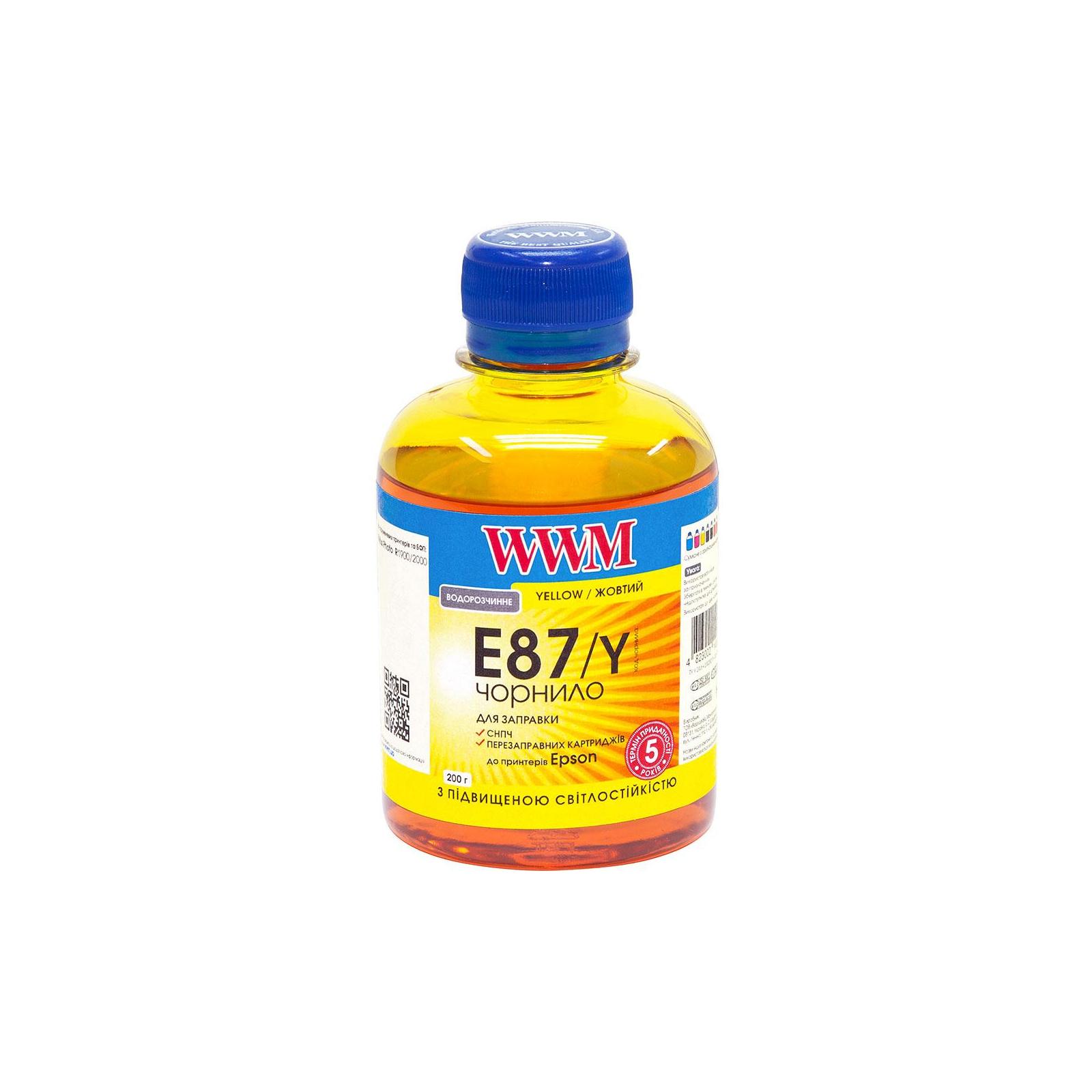 Чернила WWM EPSON St Photo R1900/2000 Yellow (E87/Y)
