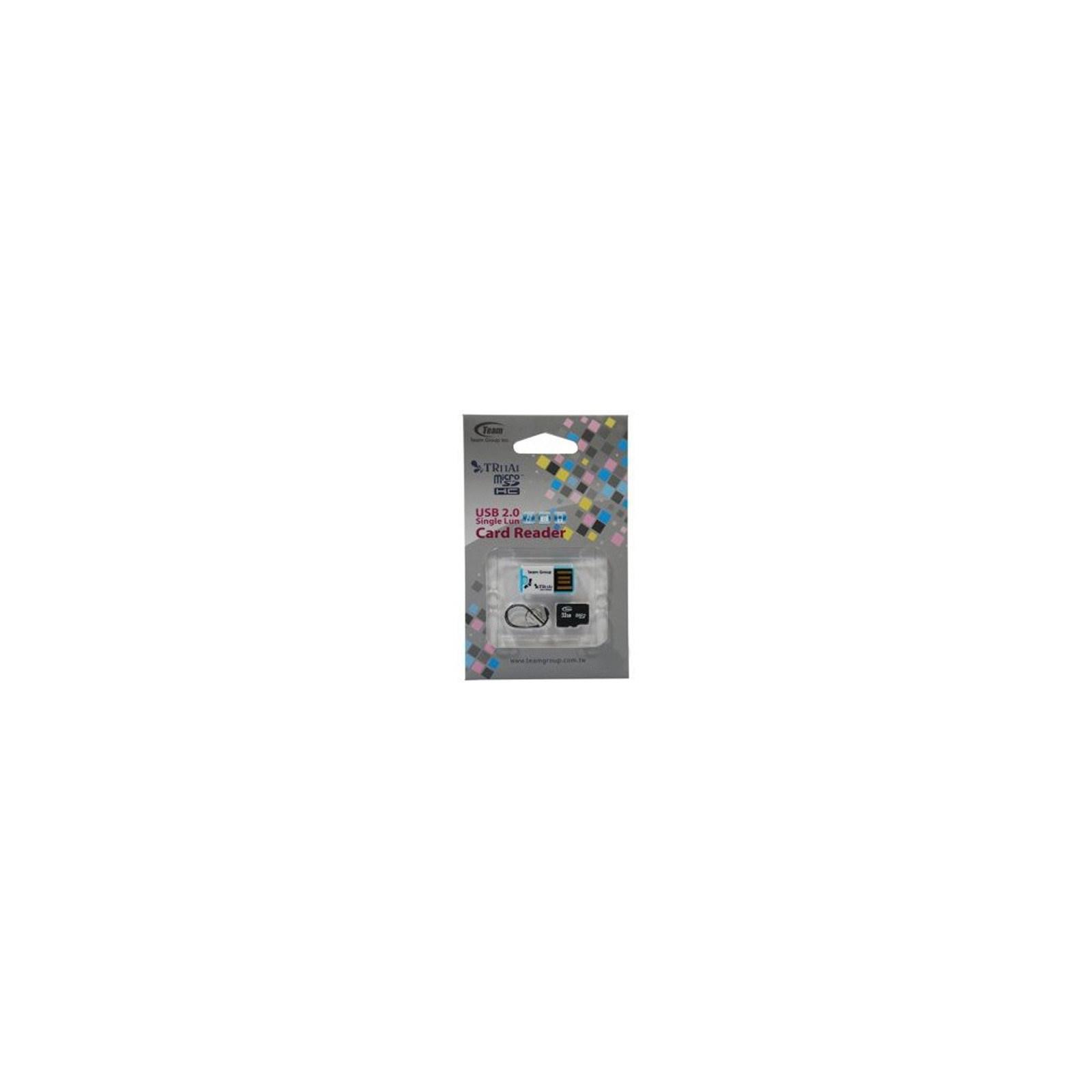 Карта памяти Team 32Gb microSDHC class 4 w/reader TR11A1 (TUSDH32GCL405)