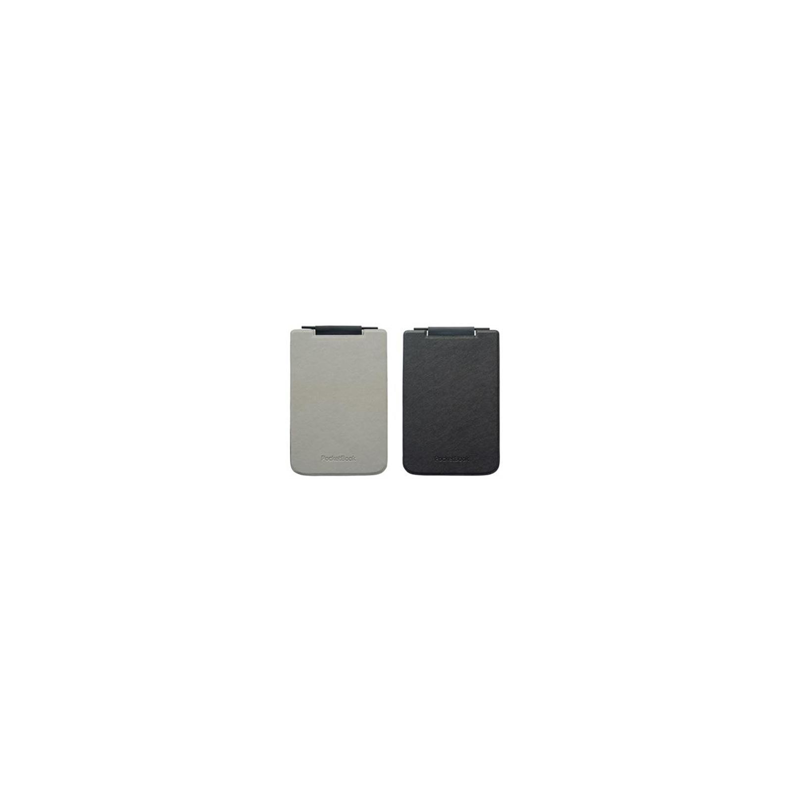 Чехол для электронной книги PocketBook PB624 Flip grey/black (PBPUC-624-GYBC-RD) изображение 2