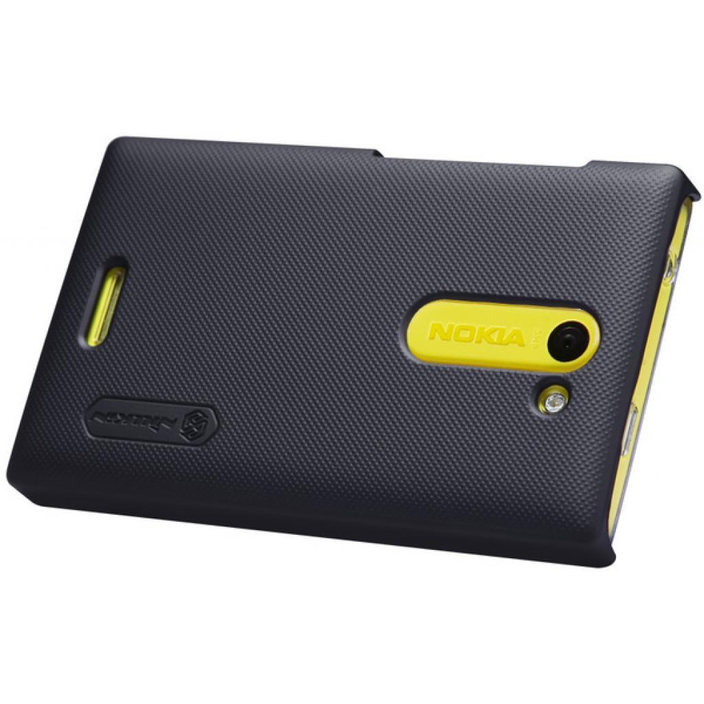 Чехол для моб. телефона NILLKIN для Nokia 502 /Super Frosted Shield/Black (6116666) изображение 3
