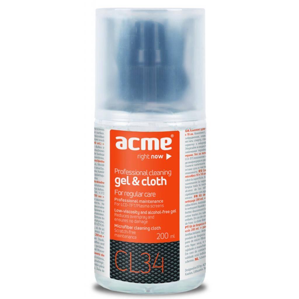 Универсальный чистящий набор ACME Gel 200 ml+micro-fiber cloth (4770070870099)