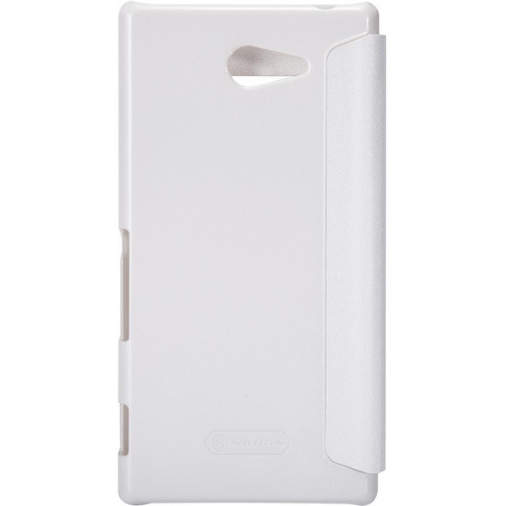 Чехол для моб. телефона NILLKIN для Sony Xperia M2 /Spark/ Leather/White (6147171) изображение 3