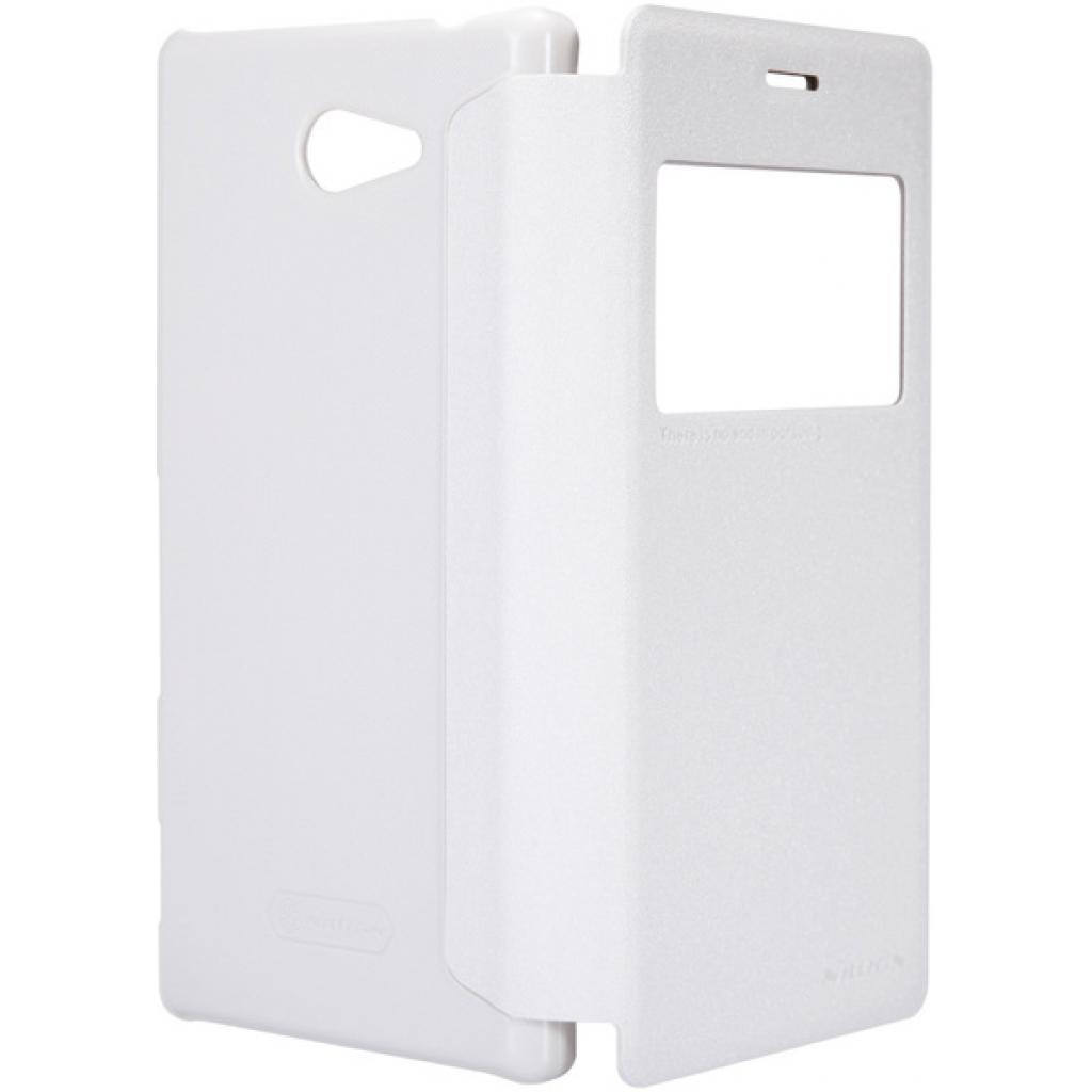 Чехол для моб. телефона NILLKIN для Sony Xperia M2 /Spark/ Leather/White (6147171) изображение 5