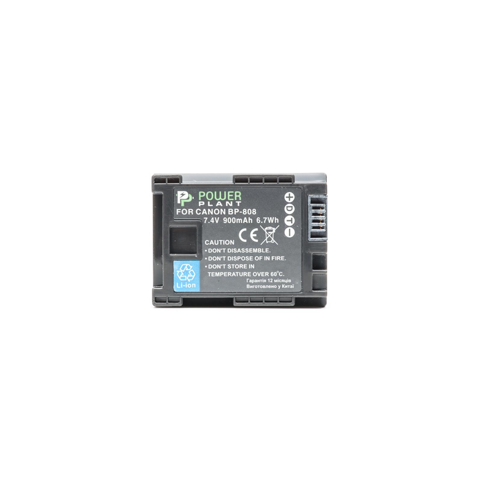 Аккумулятор к фото/видео PowerPlant Canon BP-808 Chip (DV00DV1260) изображение 2