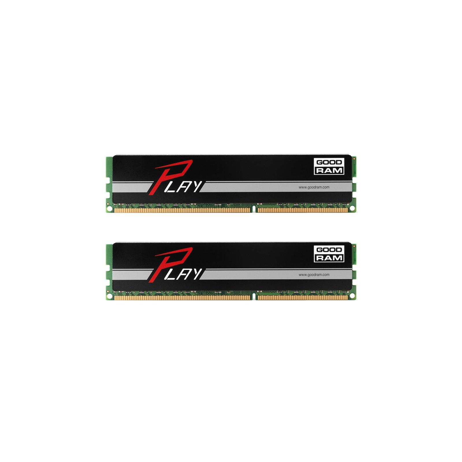 Модуль памяти для компьютера DDR4 16GB (2x8GB) 2666 MHz PLAY Black GOODRAM (GY2666D464L16/16GDC)
