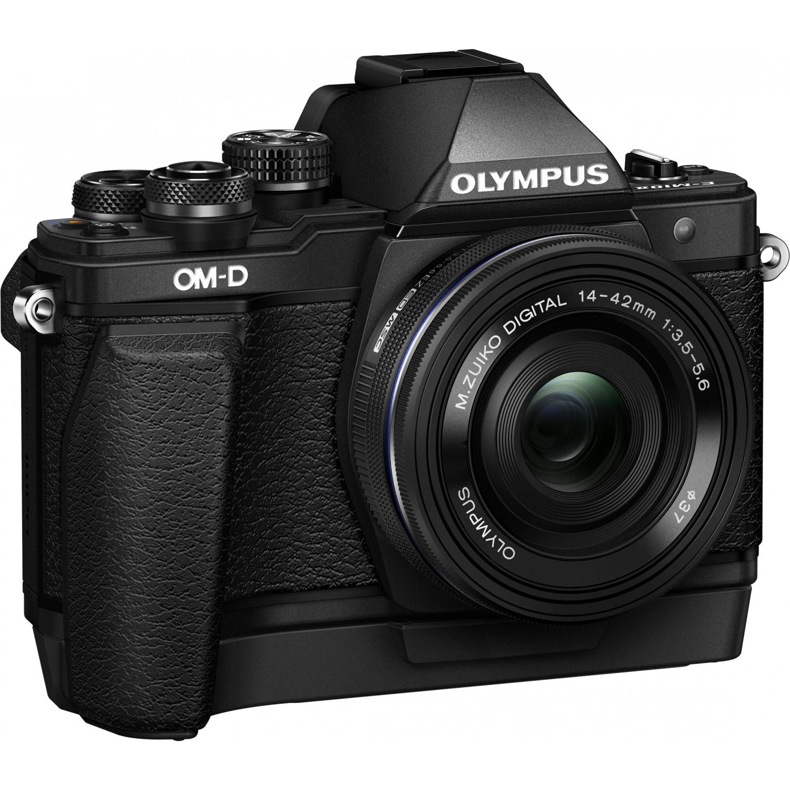 Цифровой фотоаппарат OLYMPUS E-M10 mark II 14-42 Kit black/black (V207051BE000) изображение 3