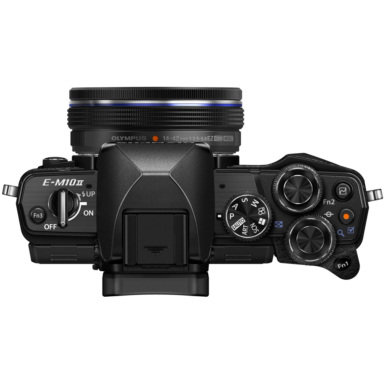 Цифровой фотоаппарат OLYMPUS E-M10 mark II 14-42 Kit black/black (V207051BE000) изображение 4