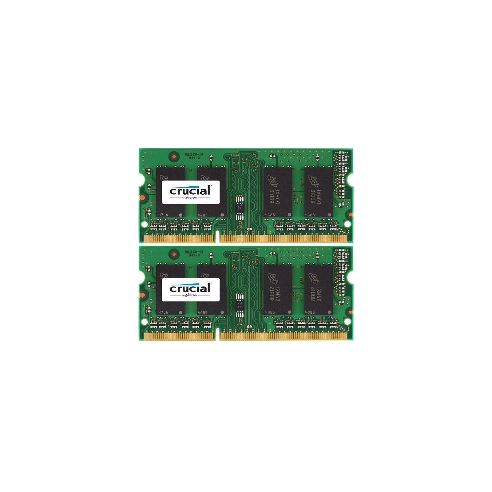 Модуль памяти для ноутбука SoDIMM DDR3 8GB (2x4GB) 1600 MHz MICRON (CT2KIT51264BF160BJ)