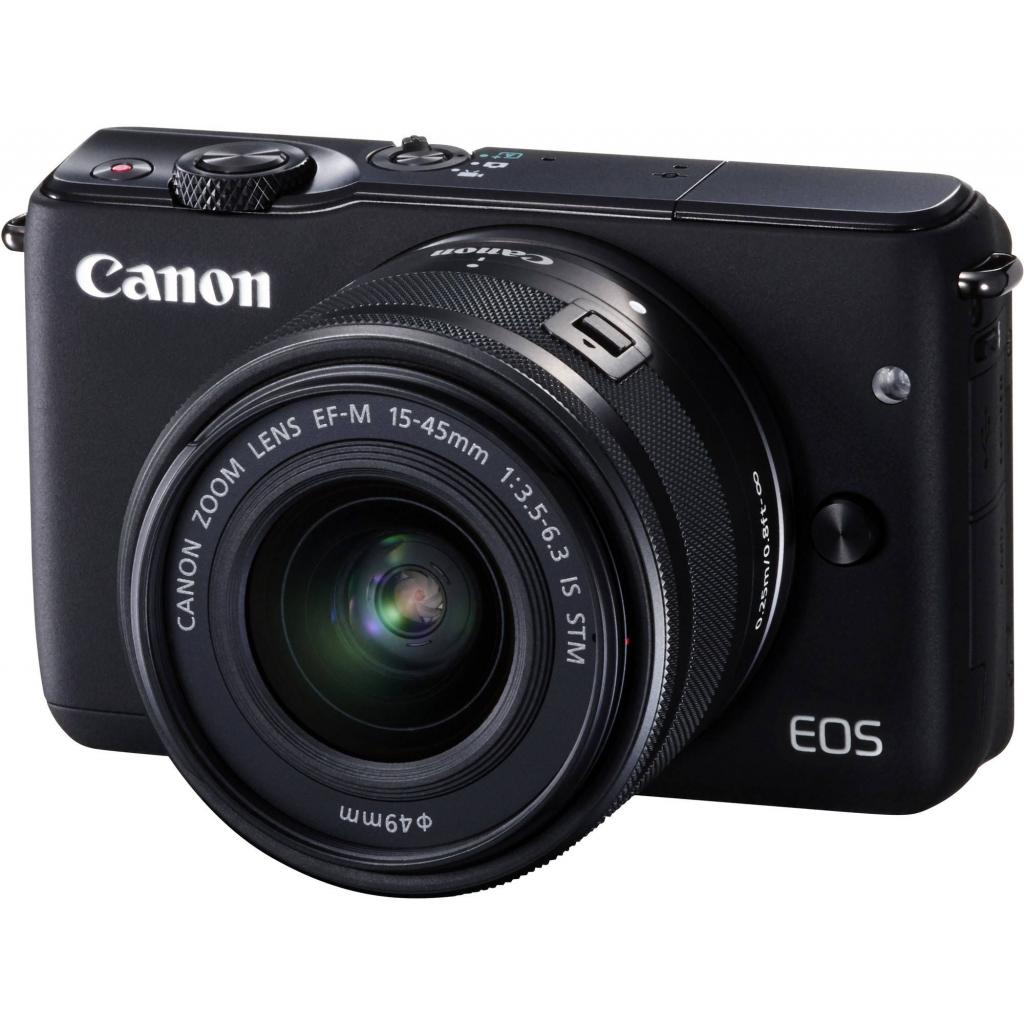 Цифровой фотоаппарат Canon EOS M10 + 15-45 IS STM Kit Black (0584C040)