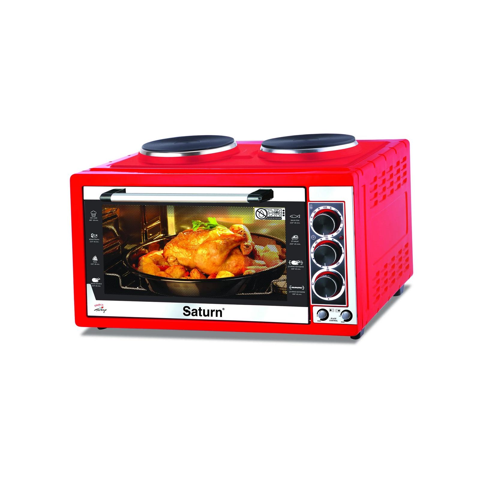 Электропечь SATURN ST-EC 10711 Red (ST-EC10711 Red)
