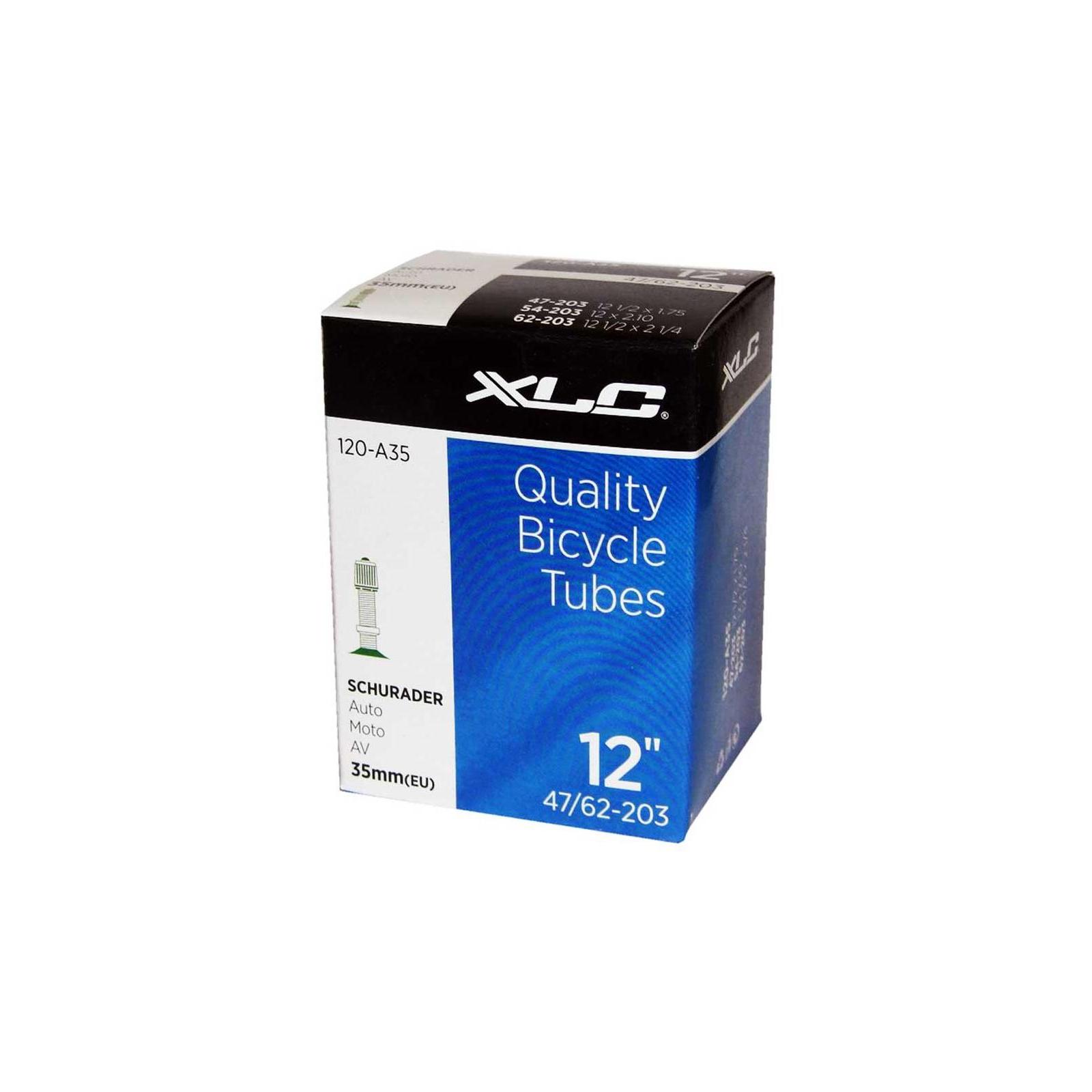 """Велосипедная камера XLC 12"""" 1/2x2 1/4 (47/62-203) AV35мм (2508120200)"""