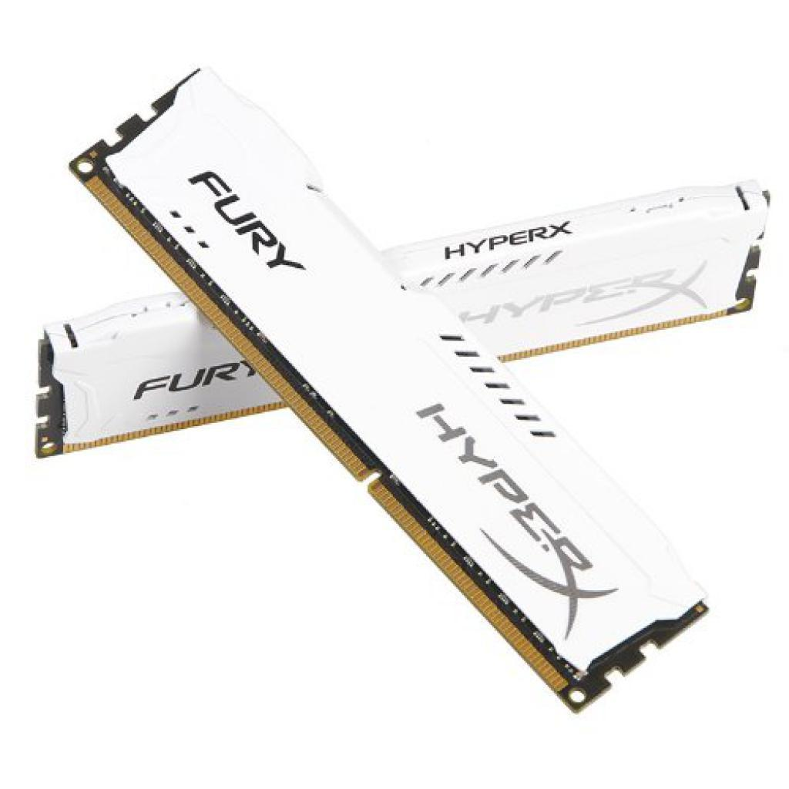 Модуль памяти для компьютера DDR4 16GB (2x8GB) 3200 MHz HyperX FURY White HyperX (Kingston Fury) (HX432C18FW2K2/16) изображение 3