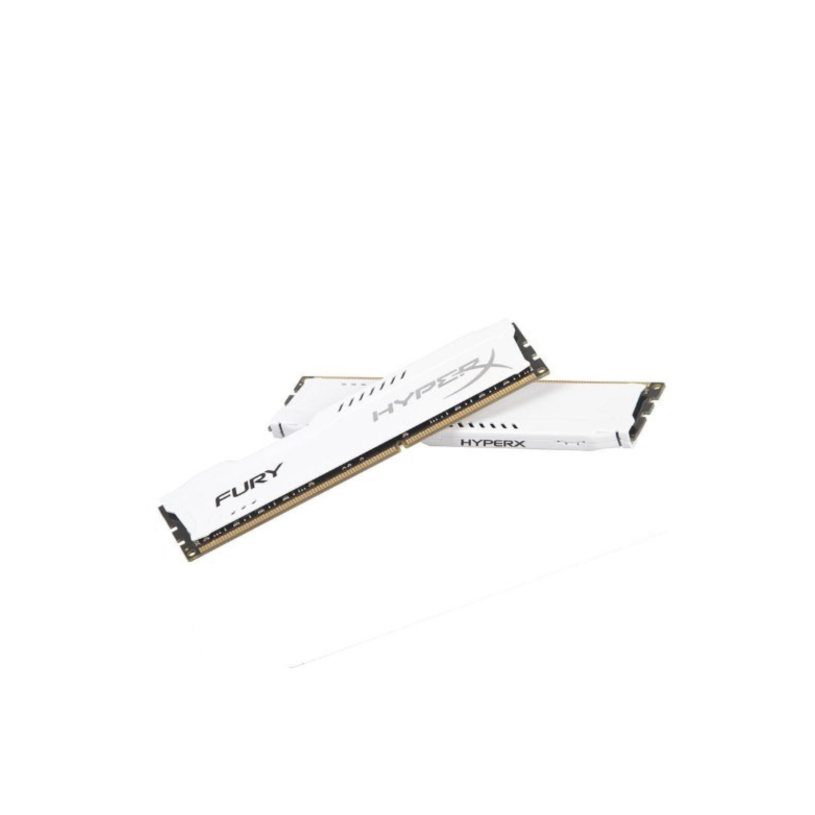 Модуль памяти для компьютера DDR4 16GB (2x8GB) 3200 MHz HyperX FURY White HyperX (Kingston Fury) (HX432C18FW2K2/16) изображение 4