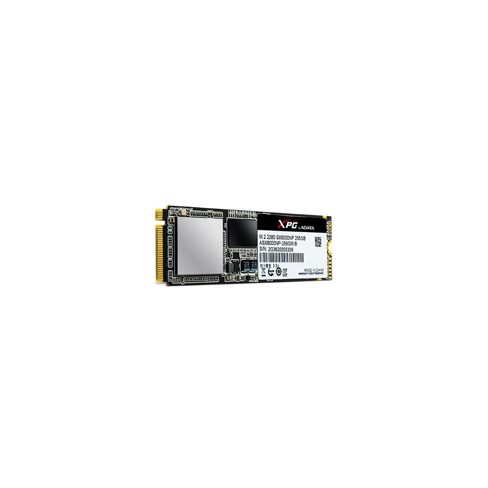 Накопитель SSD M.2 2280 256GB ADATA (ASX8000NPC-256GM-C) изображение 3