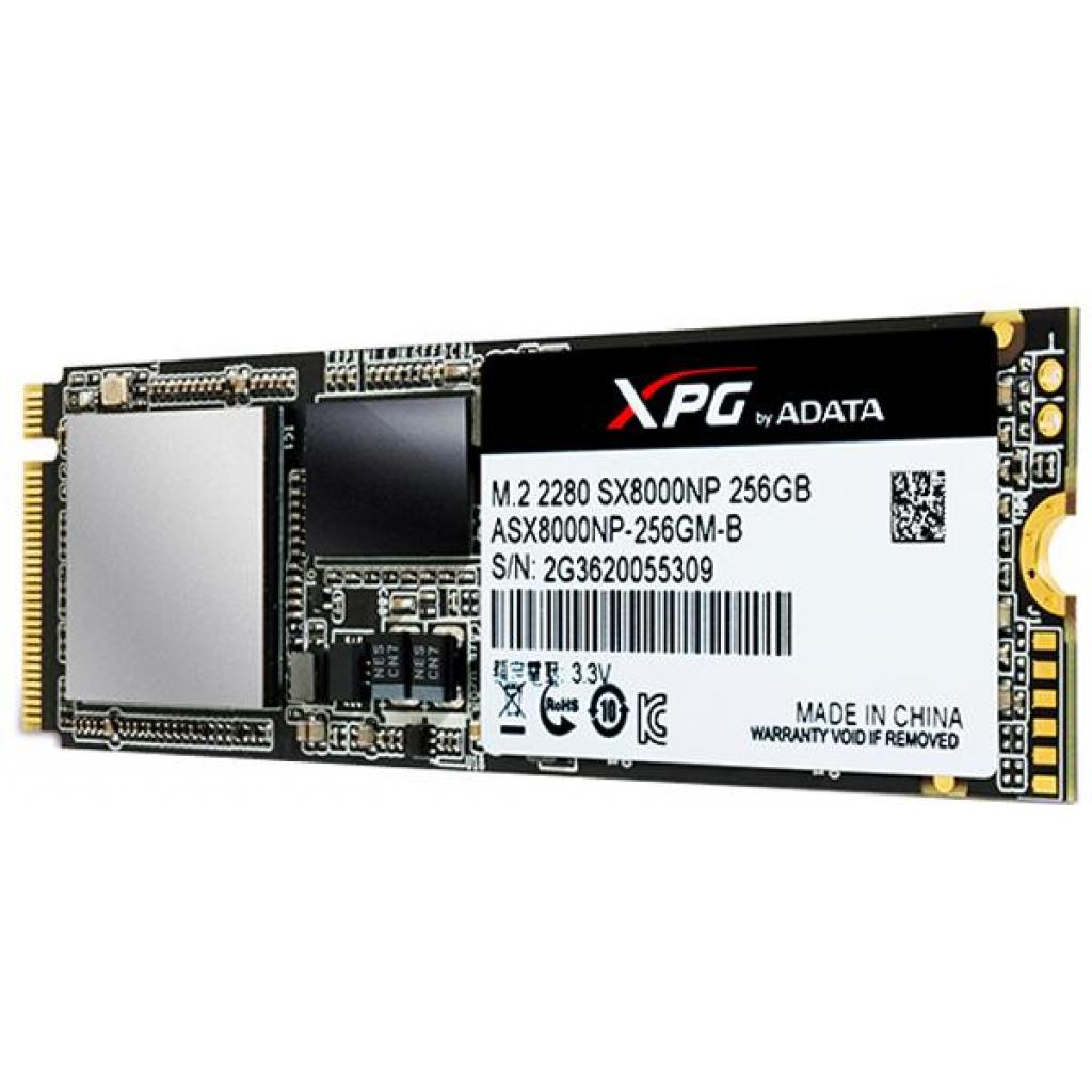 Накопитель SSD M.2 2280 256GB ADATA (ASX8000NPC-256GM-C) изображение 4