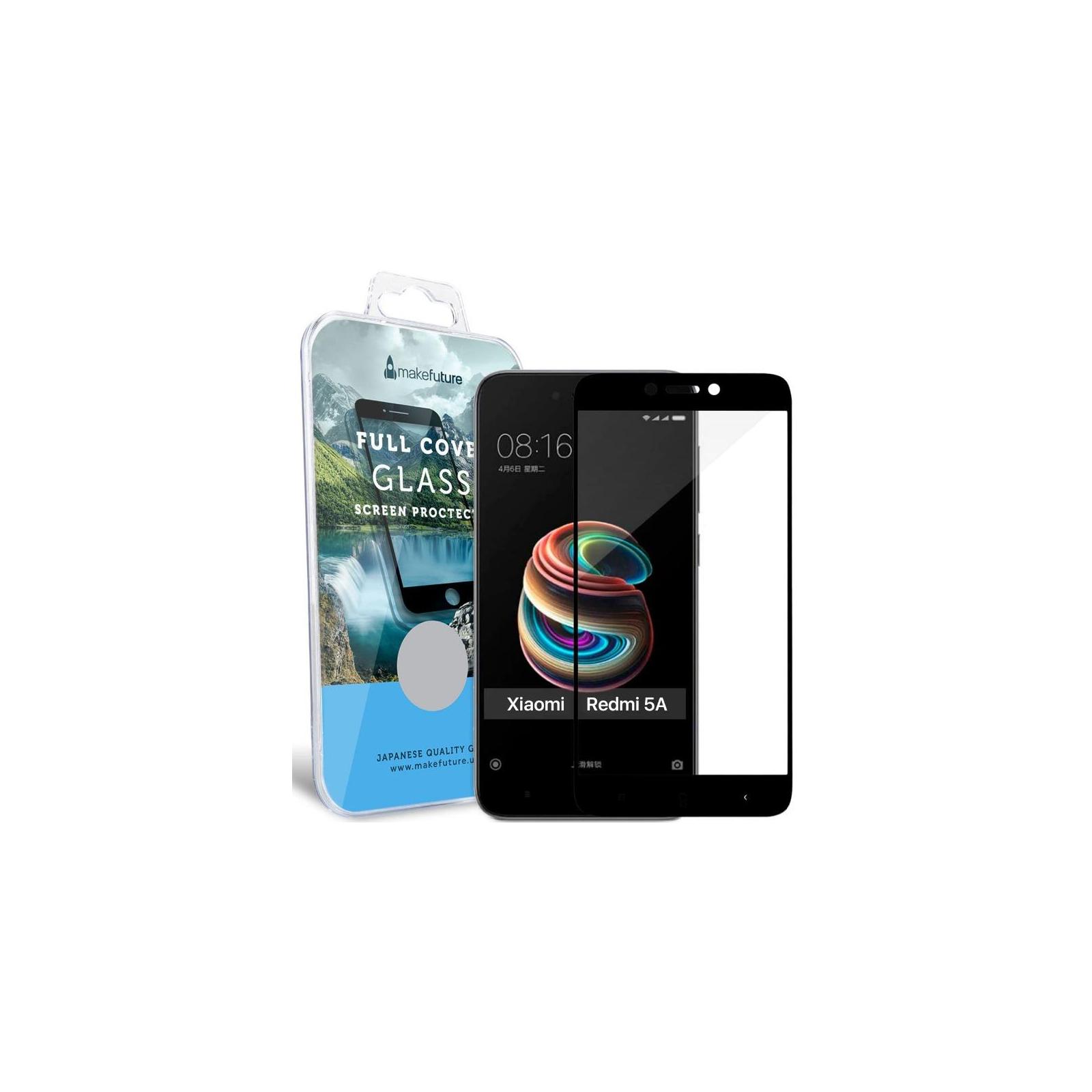 Стекло защитное MakeFuture для Xiaomi Redmi 5A Black Full Cover Full Glue (MGFCFG-XR5AB) изображение 5