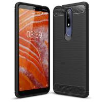 Чохол до моб. телефона Laudtec для Nokia3.1 Plus Carbon Fiber (Black) (LT-N31PB)