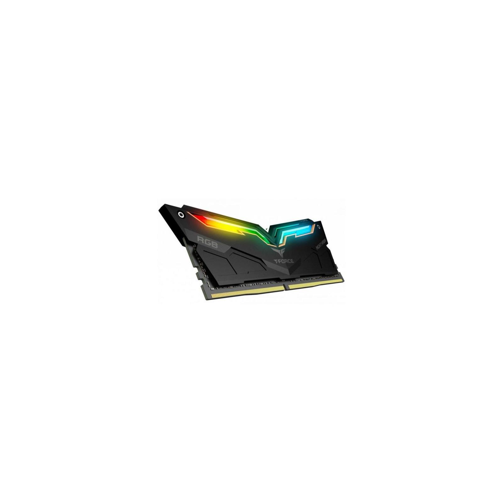 Модуль памяти для компьютера DDR4 32GB (2x16GB) 3200 MHz T-Force Night Hawk RGB Black Team (TF1D432G3200HC16CDC0) изображение 2
