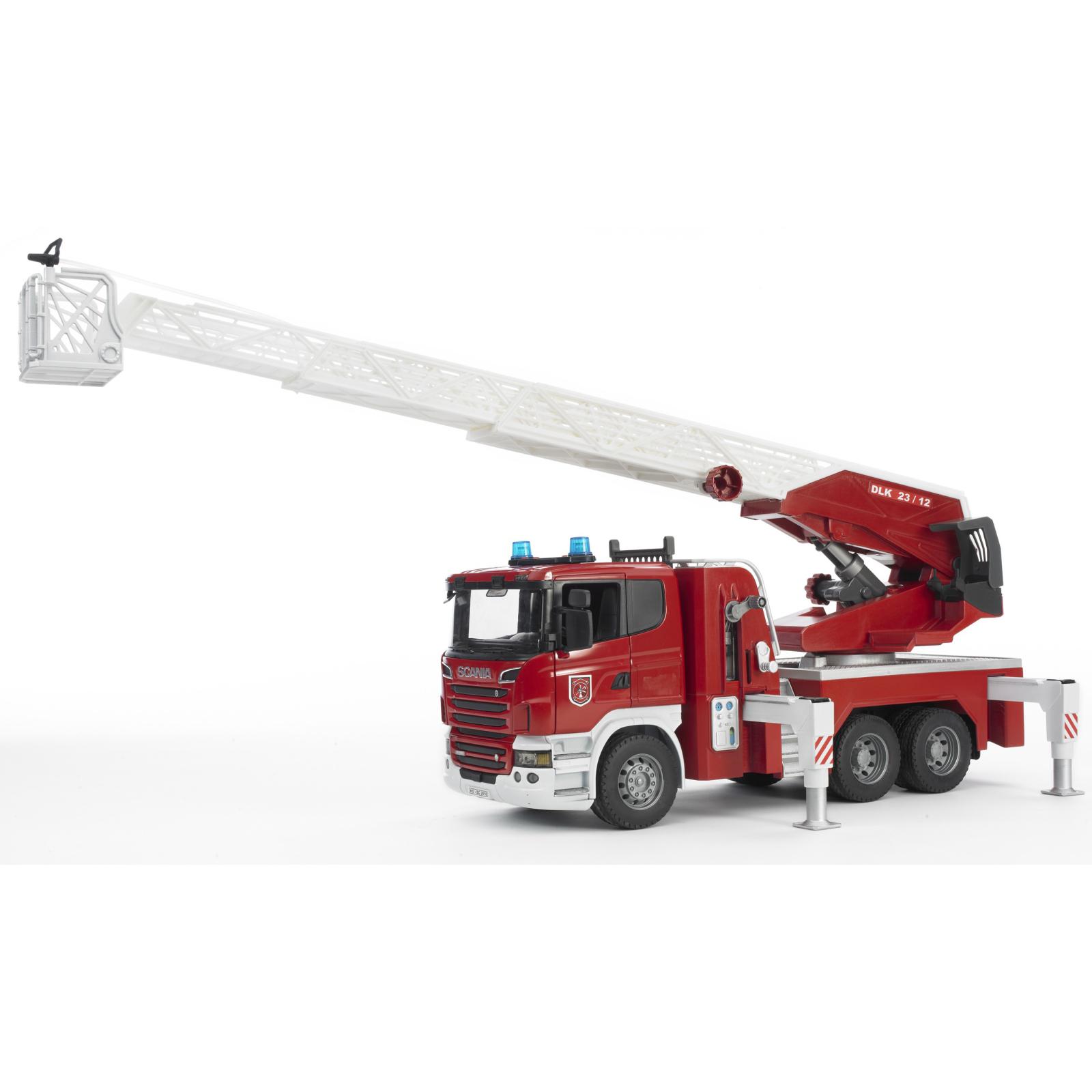 Спецтехника Bruder Большая пожарная машина Scania R-series с лестницей М1:16 (03590) изображение 2
