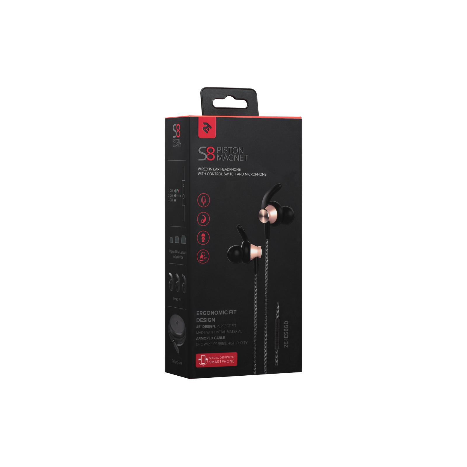 Навушники 2E S8 Piston Magnet Золотий (2E-IES8GD) зображення 8