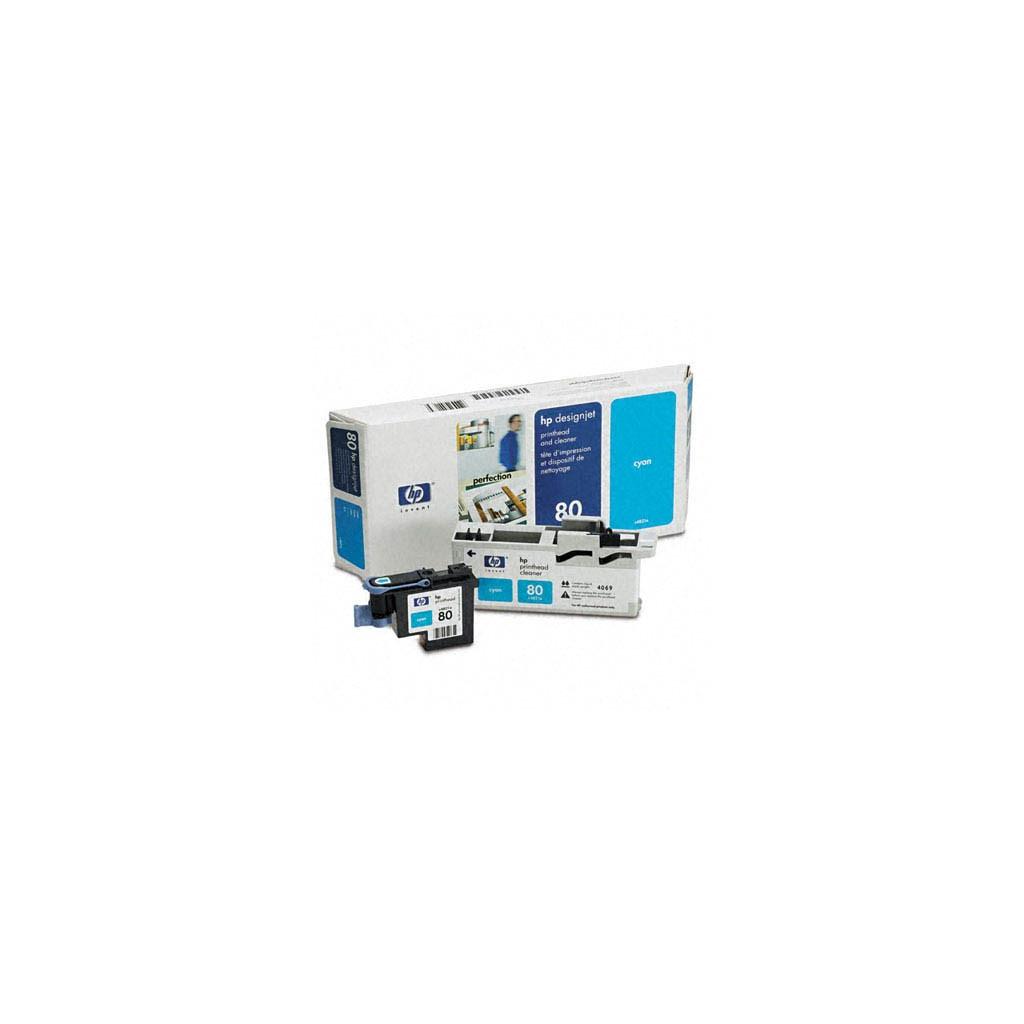 Печатающая головка HP №80 DesignJ1050/1055 cyan+Cleaner (C4821A)