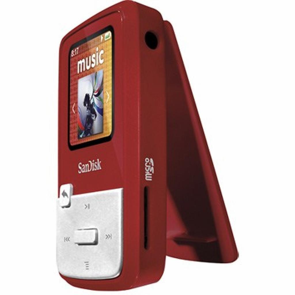 mp3 плеер SANDISK Sansa Clip Zip 4GB Red (SDMX22-004G-E46R) изображение 2