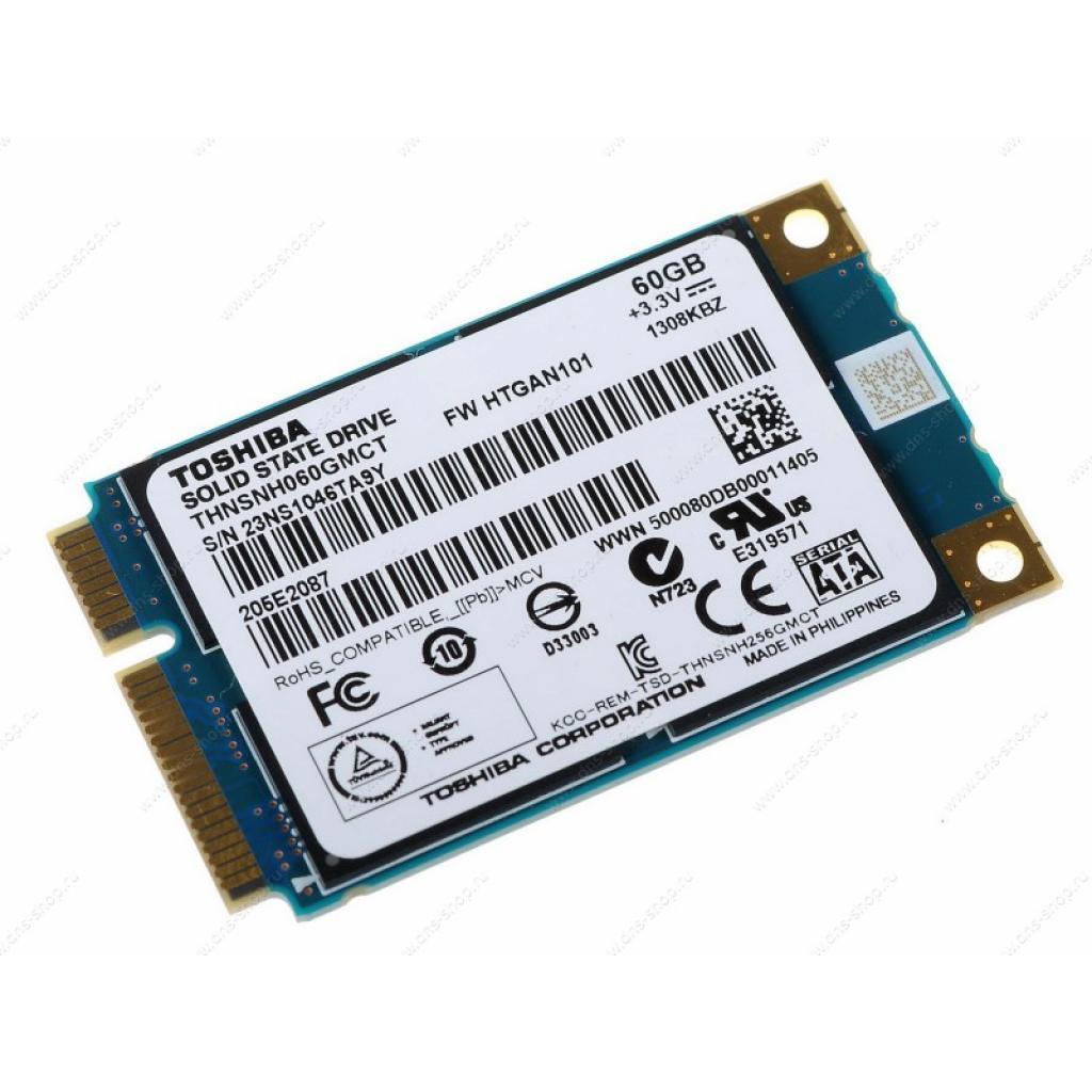 Накопитель SSD mSATA 60GB TOSHIBA (THNSNH060GMCT) изображение 2