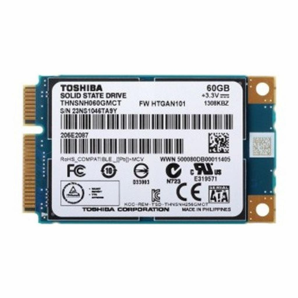 Накопитель SSD mSATA 60GB TOSHIBA (THNSNH060GMCT)