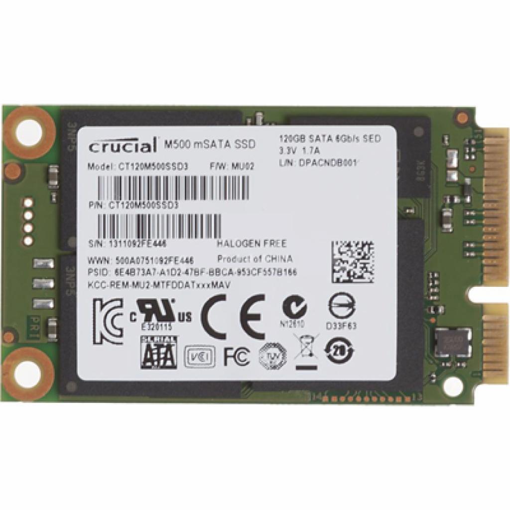 Накопитель SSD mSATA 128GB MICRON (CT120M500SSD3) изображение 2
