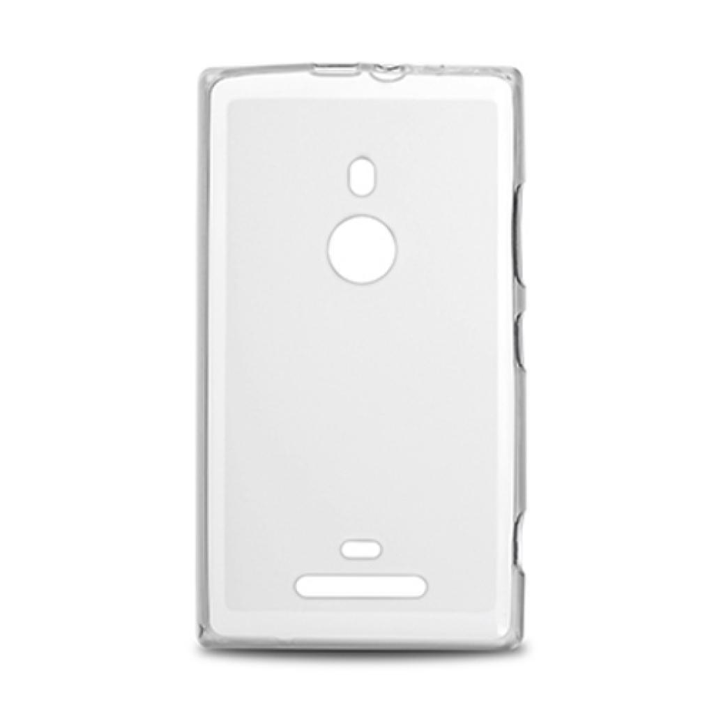 Чехол для моб. телефона Drobak для Nokia 925 Lumia /Elastic PU/White Clear (216394) изображение 2