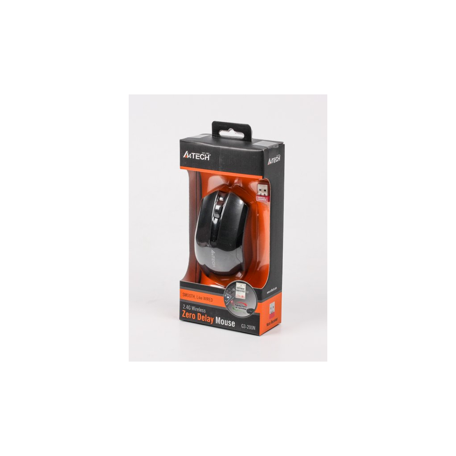 Мышка A4-tech G3-200N Black изображение 4