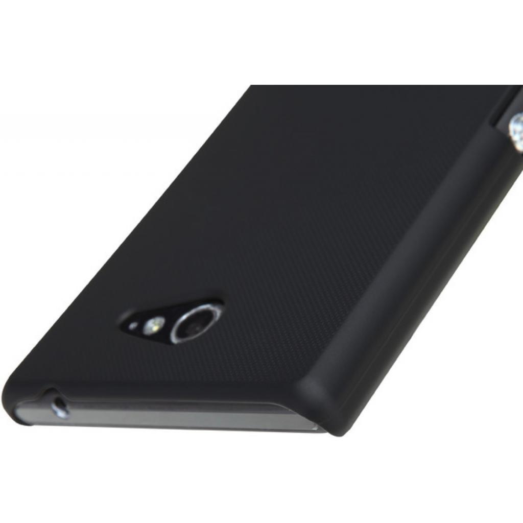 Чехол для моб. телефона NILLKIN для Sony Xperia M2 /Super Frosted Shield/Black (6147172) изображение 3