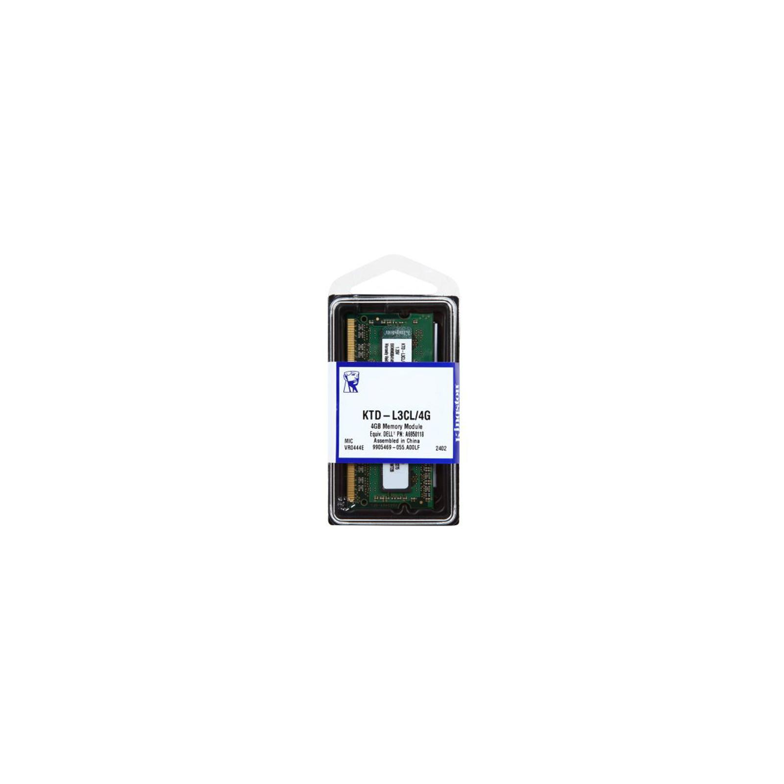 Модуль памяти для ноутбука SoDIMM DDR3 4GB 1600 MHz Kingston (KTD-L3CL/4G) изображение 3