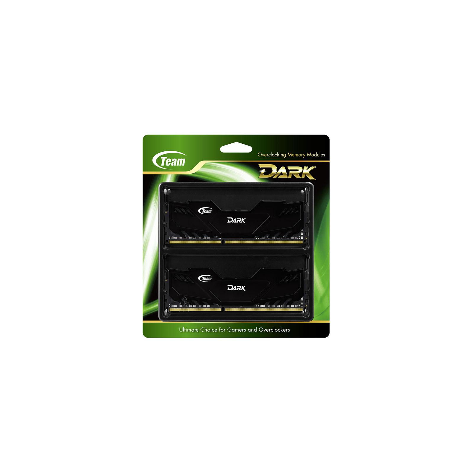 Модуль памяти для компьютера DDR4 16GB (2x8GB) 3000 MHz Dark Black Team (TDKED416G3000HC15ADC01) изображение 2