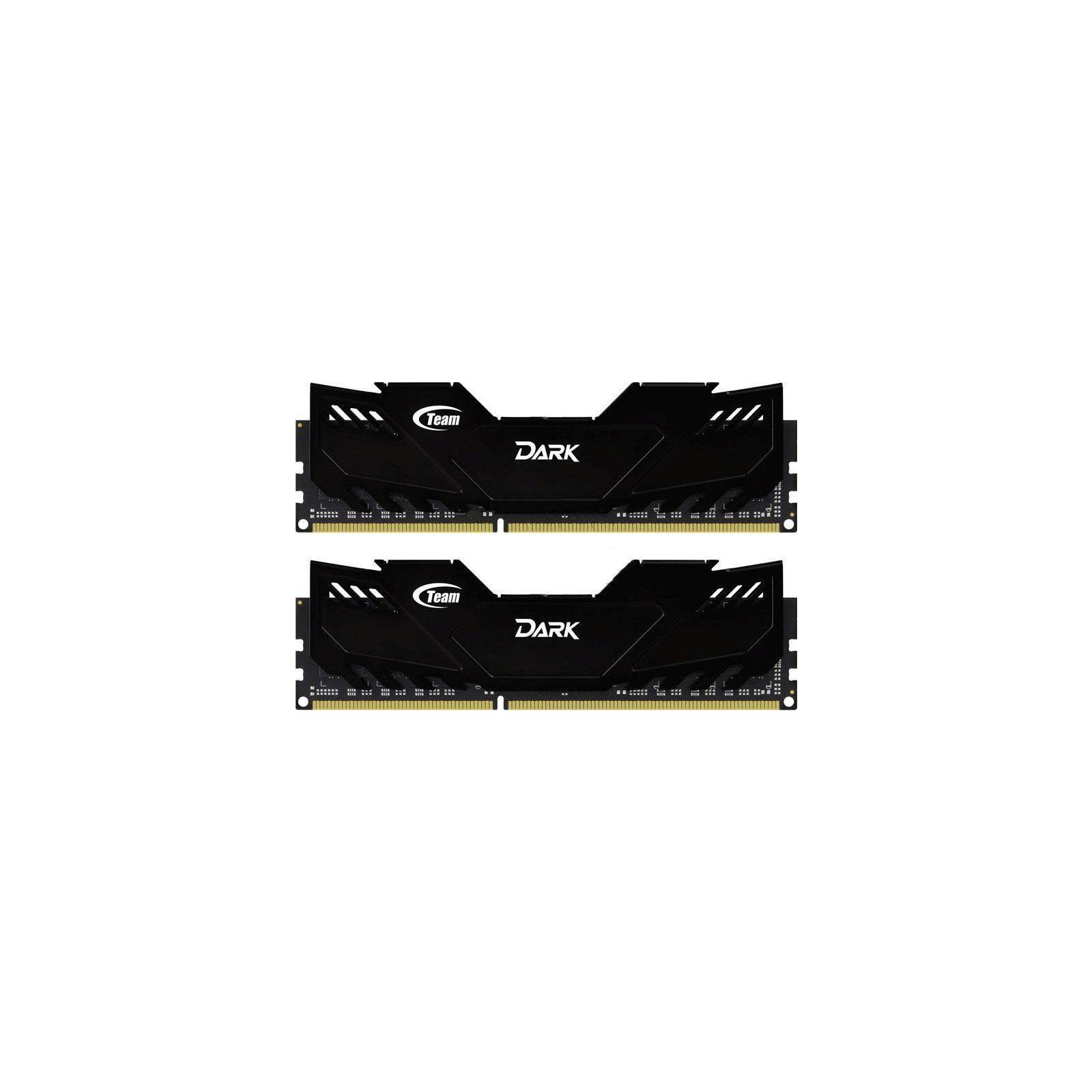 Модуль памяти для компьютера DDR4 16GB (2x8GB) 3000 MHz Dark Black Team (TDKED416G3000HC15ADC01)