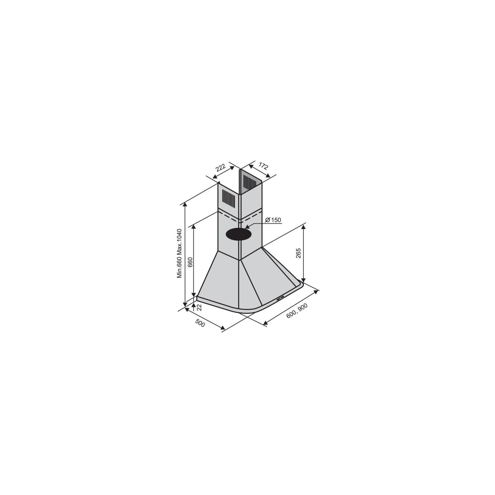 Вытяжка кухонная VENTOLUX MONACO 60 AN/BRONZE (800) изображение 2