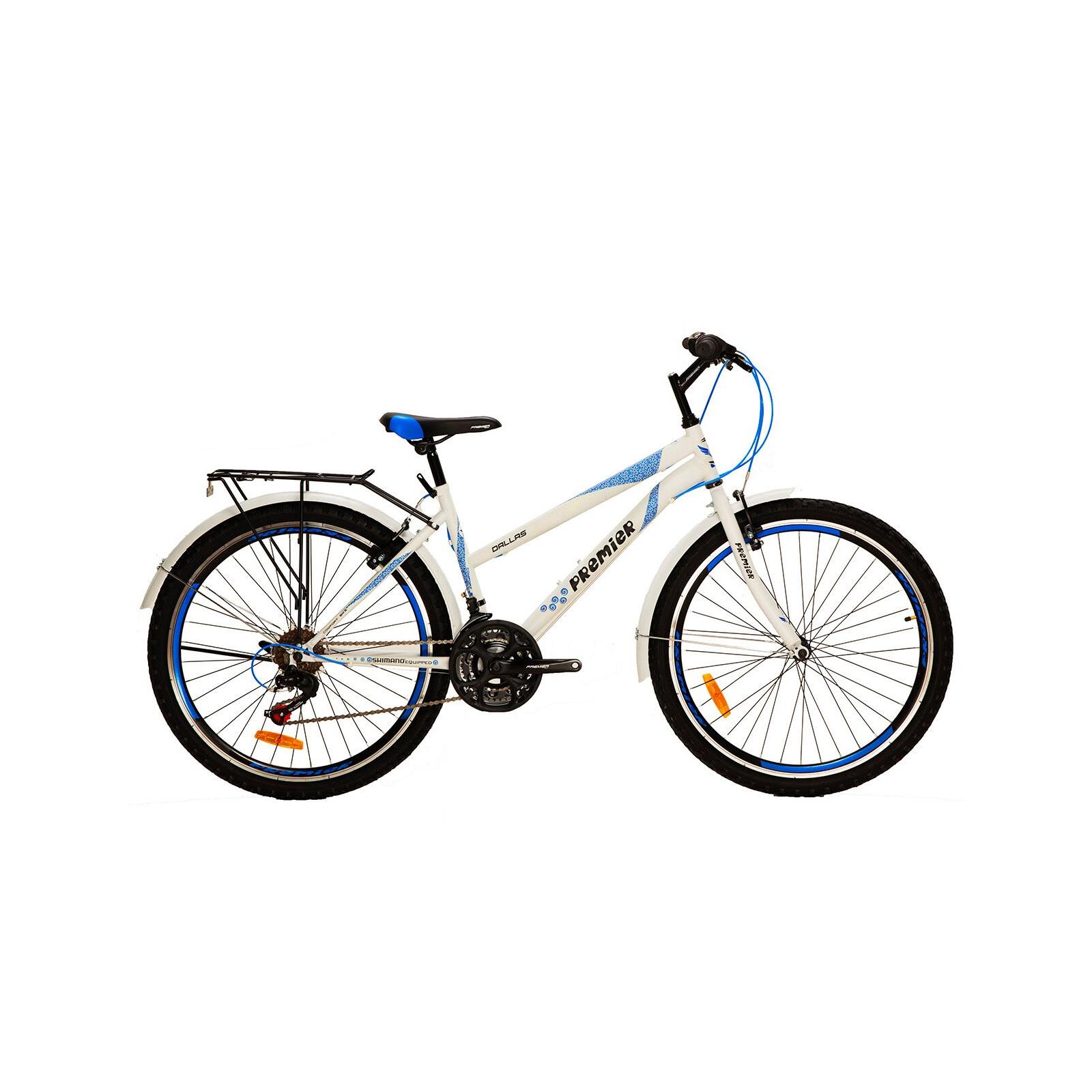 "Велосипед Premier Dallas 26 16"" matt white/neon blue (SP0001500)"