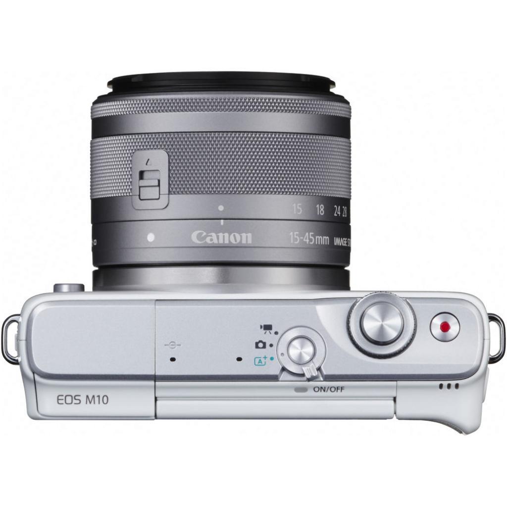 Цифровой фотоаппарат Canon EOS M10 15-45 IS STM White Kit (0922C040) изображение 4