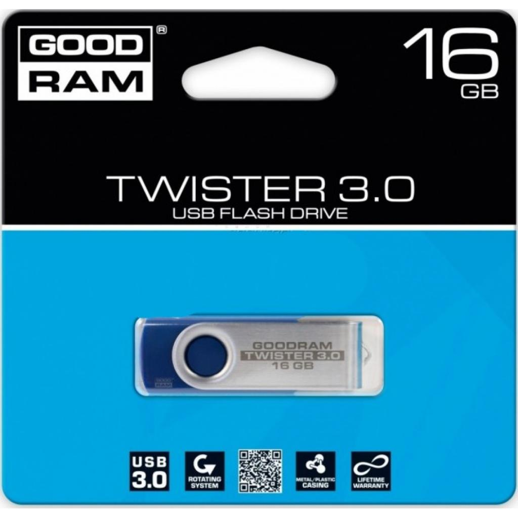 USB флеш накопитель GOODRAM 16GB Twister Blue USB 2.0 (UTS2-0160B0R11) изображение 3