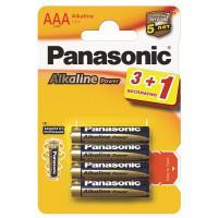Батарейка PANASONIC AAA LR03 Alkaline Power * 4 (3+1) (LR03REB/4B1F)