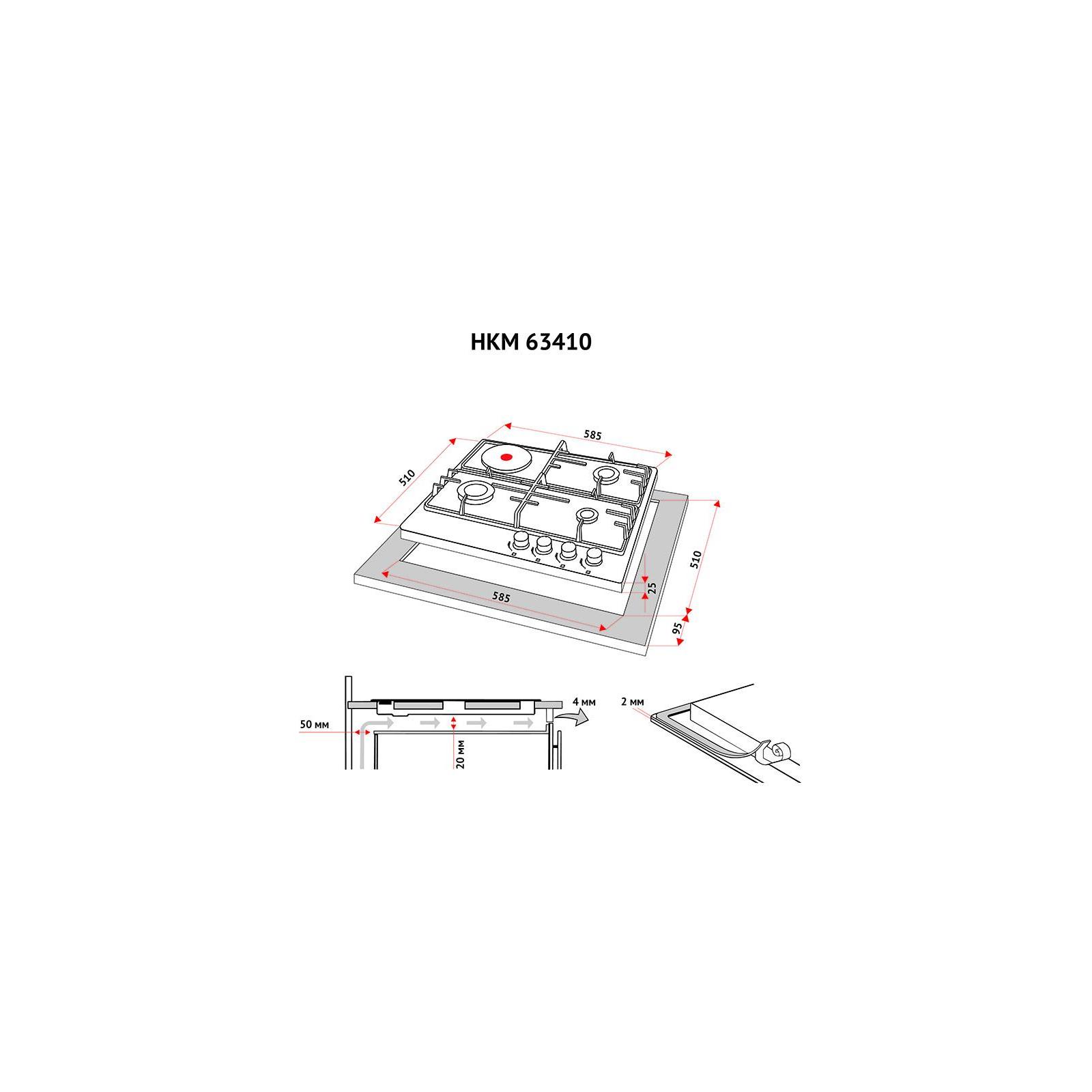 Варочная поверхность PERFELLI HKM 63410 BL изображение 7