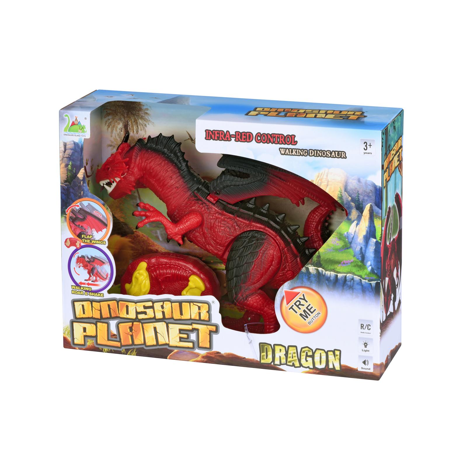 Интерактивная игрушка Same Toy Динозавр Dinosaur Planet Дракон красный со светом и звуком (RS6139Ut) изображение 12